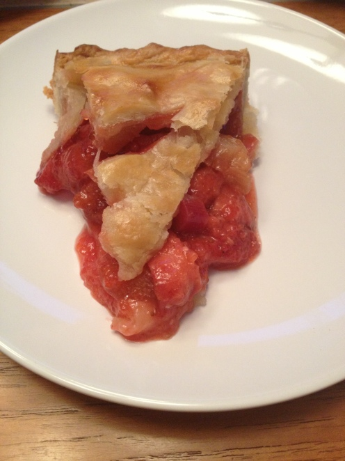 Strawberry Rhubarb Pie Slice