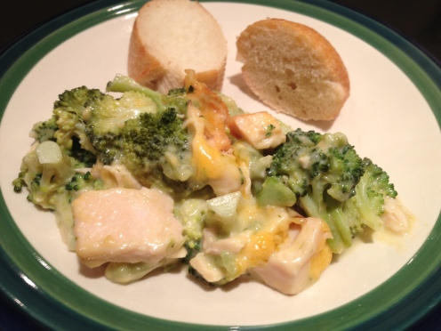 Chicken Broccoli Divan Serving