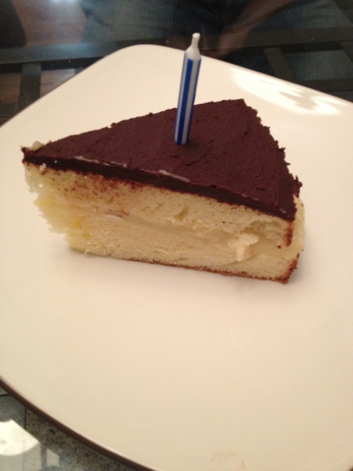 Boston Cream Pie Slice