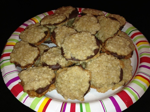 Assembled Florentine Cookies