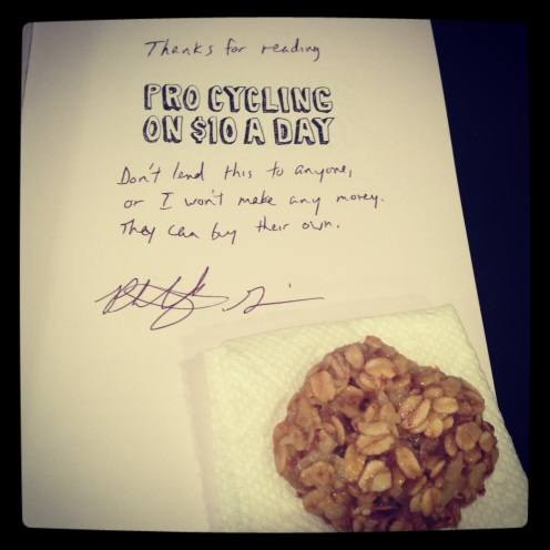 Honey Oatmeal Cookie with Book
