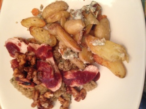 Final Plating with Fingerling Potatoes