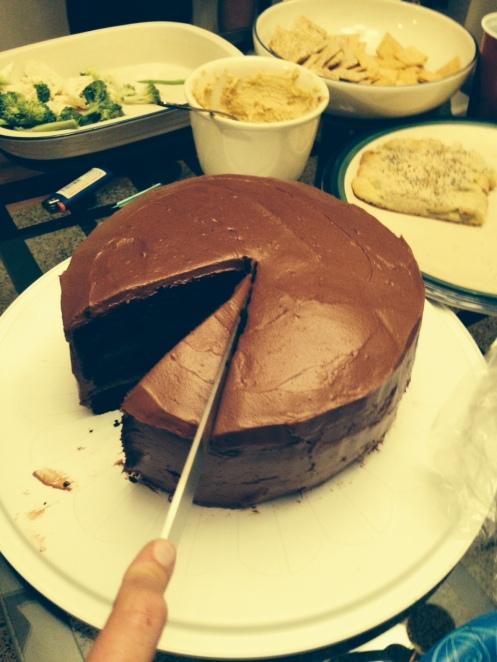 Nutella Cake Cut